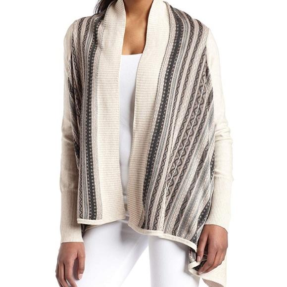 Kensie Sweaters - Kensie Fair Isle Flyaway Cardigan